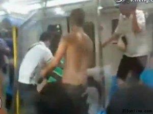 北京地铁:男女为抢座疯狂群殴
