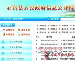 石台县政府信息网2张图片拼接忽悠民众