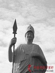 西北大学雕像是领导之脸加雅典娜女娲之身
