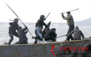 韩国海警配枪 将允许向中国渔民开枪
